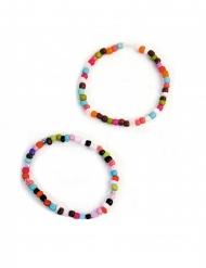 Perlenarmbänder für Kinder 2-teilig bunt