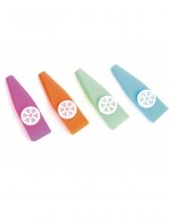 Kazoo Spielzeug bunt 7,5cm Partyzubehör