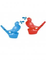 Vogel-Pfeife Spielzeug Pinata-Zubehör bunt 7 cm