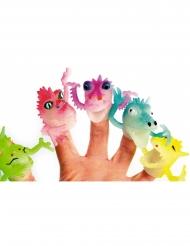 Fingerpuppe Drache Spielfigur für Kinder bunt 4cm