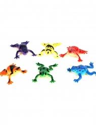 Frosch-Spielzeug 5,5cm bunt Partyzubehör
