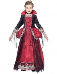 Pompöses Vampirkostüm für Mädchen Halloween-Verkleidung schwarz-rot