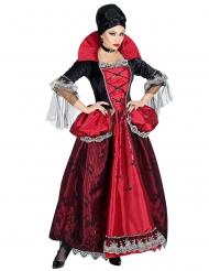 Vampir-Gräfin Barock-Kostüm für Damen Halloween schwarz-rot