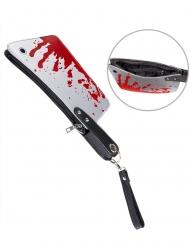 Handtasche blutiges Beil Clutch Halloween