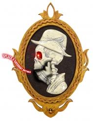 Animierte Raumdeko Skelett-Porträt mit Sound bunt 32 x 48 cm