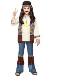 Hochwertiges Hippie-Kostüm für Kinder 60er-Jahre-Kostüm braun-bunt