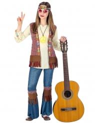 Flower Power Hippie-Kostüm für Mädchen bunt