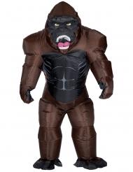 Gorilla-Kostüm aufblasbar für Erwachsene braun-schwarz