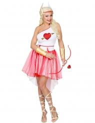 Zauberhaftes Amor-Kostüm für Damen Liebesengel-Verkleidung rot-weiss