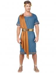 Römischer-Krieger Herrenkostüm für Karneval blau-orange-goldfarben