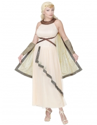 Herrscherin-Kostüm für Damen Römer-Verkleidung weiss-gold