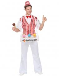 Lustiges Eisverkäufer-Kostüm für Erwachsene bunt