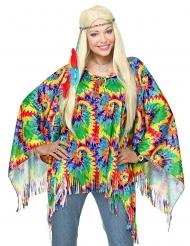 Hippie-Poncho für Damen Kostüm-Zubehör bunt