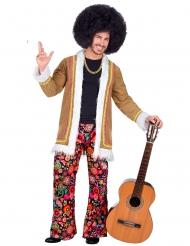 Hippie-Herrenkostüm Woodstock für Karneval bunt