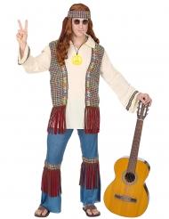 Hippie Peace-Kostüm Herren-Verkleidung für Karneval bunt