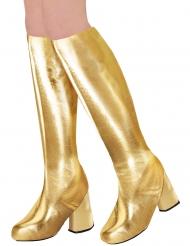 70er-Jahre-Stiefelstulpen für Damen Kostüm-Accessoire gold