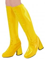 Retro-Stiefelstulpen 60er und 70er-Jahre Kostümzubehör für Damen gelb