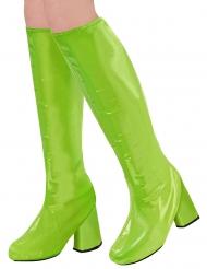 Stiefelstulpen für eine 60er oder 70er-Jahre Party Kostümzubehör grün