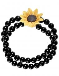 Hippie-Armschmuck Accessoire für Damen schwarz-gelb