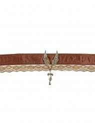 Viktorianisches Steampunk-Halsband für Erwachsene braun-gold
