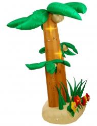 Aufblasbare Palme leuchtende Partydekoration grün-braun 240 cm