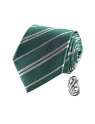 Harry Potter™ Slytherin Krawatte mit Anstecknadel grün