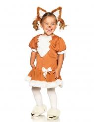Kuscheliges Fuchs-Kostüm für Mädchen braun-weiss