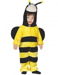 Lustige Biene Kinderkostüm Tier-Overall gelb-schwarz