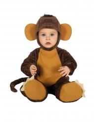 Affen-Baby Kleinkind-Kostüm Overall braun