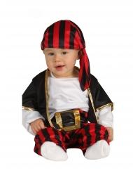 Freches Baby Piraten-Kostüm Kleinkinder schwarz-rot-weiss