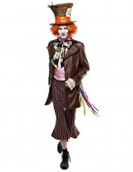 Exklusives Hutmacher-Kostüm mit Hut und Perücke für Herren bunt