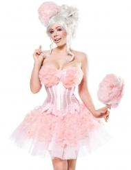 Candy Zuckerwatten-Kostüm für Damen Fasching rosa