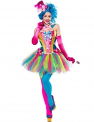 Candy Clown-Kostüm für Damen Bonbons bunt