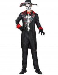 Tag der Toten-Herrenanzug für Halloween schwarz-bunt