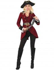 Verführerisches Piraten-Damenkostüm rot