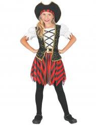 Elegantes Piratenkostüm für Mädchen Seeräuberin bunt