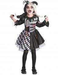 Horror-Clown Kostüm für Mädchen Halloween schwarz-weiss