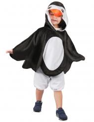 Pinguinkostüm für Kinder Tunika schwarz-weiss