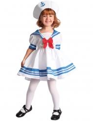 Niedliches Matrosen-Kostüm für Mädchen blau-weiss-rot