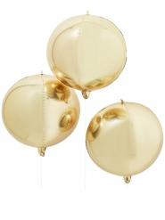Riesiger Alu-Luftballon Gold 55 cm