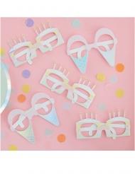 Brillen mit Eis- und Kuchenform 8 Stück bunt