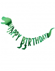 Dinosaurier Geburtstags-Girlande grün 2 Meter
