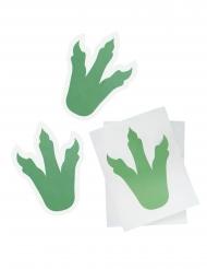 Dinosaurier-Aufkleber 6 Stück Bastelzubehör grün 18cm
