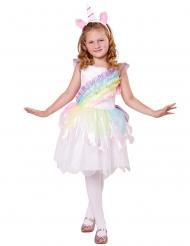 Magisches Einhorn Kostüm-Set für Mädchen Fasching weiss-bunt