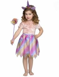 Süßes Einhorn-Mädchenkostüm für Fasching lila