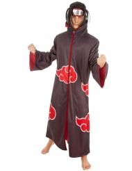 Itachi Naruto™-Herrenkostüm Lizenz-Verkleidung braun-rot