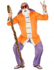 Muten Roshi Dragon Ball™-Kostüm für Herren orange-weiss-blau
