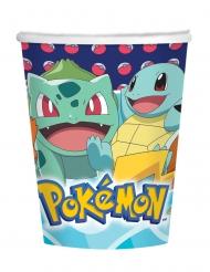 Pokémon™-Pappbecher Tischzubehör 8 Stück bunt 250 ml
