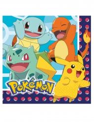 Geniale Pokémon™-Servietten Tischzubehör 16 Stück bunt 33 x 33 cm