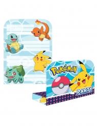 Pokémon™-Einladungskarten und Umschläge 16-teilig bunt
